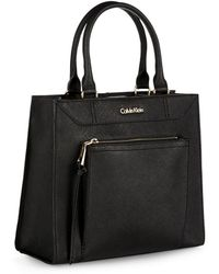 Calvin Klein Dual Handled Tote - Lyst