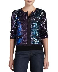 Michael Simon Allover Sequined Jacket - Lyst