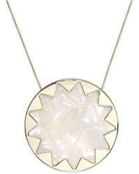 House Of Harlow Gold-tone Imitation Pearl Sunburst Pendant Necklace - Lyst