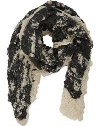 Barneys New York Crinkle-Textured Scarf gray - Lyst