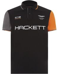 Hackett Aston Martin Racing Embroidered Logo Polo - Lyst
