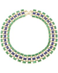 House Of Harlow Azure Mosaic Collar Necklace - Lyst