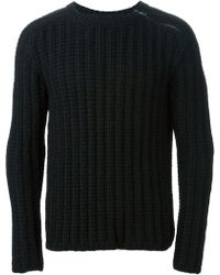 Gucci Ribbed Sweater - Lyst