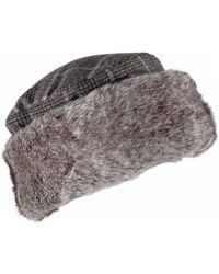Dents - Ladies Check Tweed Cossack Hat - Lyst
