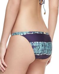 Vix Inga Detail Striped Swim Bottom - Lyst