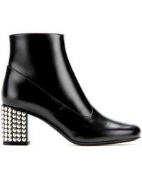 Saint Laurent Babies Leather Ankle Boots - Lyst