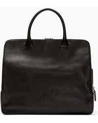 Costume National Black Leather Multi_compartment Duffle Bag - Lyst