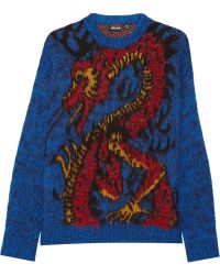 Just Cavalli Woolblend Sweater - Lyst