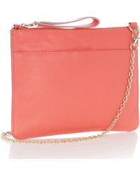 Oasis The Stephanie Leather Clutch - Lyst