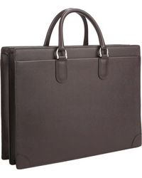 Barneys New York Two-compartment Briefcase - Lyst