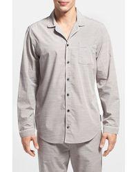 Calvin Klein Chambray Pajama Shirt gray - Lyst