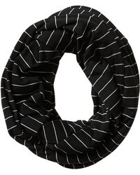 Banana Republic Textured Infinity Scarf black - Lyst