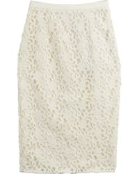 Burberry London Lace Pencil Skirt - Lyst