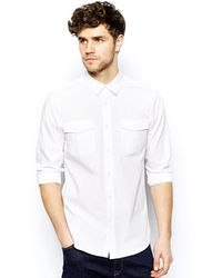 Asos Military Shirt in Long Sleeve - Lyst