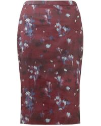 Jigsaw - Smudge Bloom Pencil Skirt - Lyst