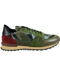 Valentino Sneaker Rockrunner Camouflage in Tessuto E Nappa D - Lyst