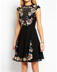 Needle & Thread Embellished Floral Circle Dress - Lyst