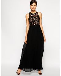 Little Mistress Maxi Dress With Sequin Bodice - Lyst