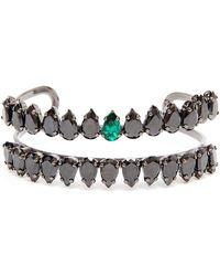 Chanael K - Doublerow Corundum Embellished Bracelet - Lyst