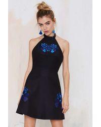 Nasty Gal Keepsake Light Fields Embroidered Dress - Lyst