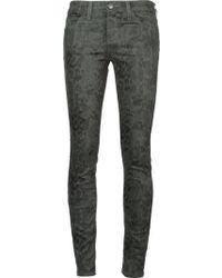 Current/Elliott Snakeskin Print Skinny Jeans - Lyst