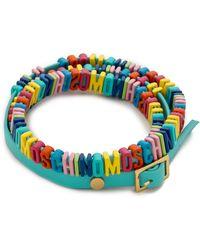 Moschino Bracelet - Blue - Lyst
