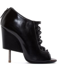 Givenchy Black Cut_Out Wedge Nissa Boots - Lyst