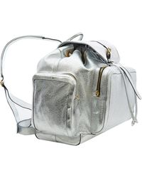 Pierre Hardy - Silver Metallic Leather Backpack - Lyst