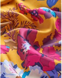 Joules - Women's Bloomfield Square Silk Scarf - Lyst