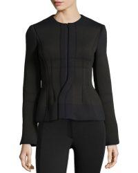 Philosophy di Alberta Ferretti Textured Ponte Jacket W Zip Front - Lyst