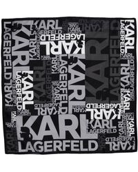 Karl Lagerfeld Square Scarf - Lyst