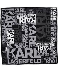 Karl Lagerfeld Square Scarf black - Lyst
