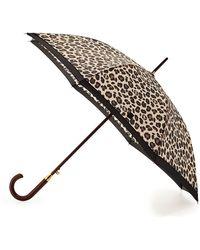 Adrienne Vittadini - Leopard-Print Tall Umbrella - Lyst