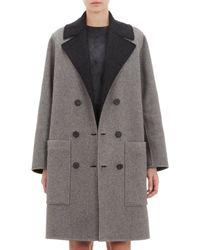 Balenciaga Wool Felt Double-breasted Coat - Lyst