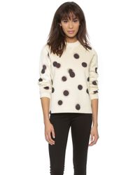 Marc By Marc Jacobs Blurred Dot Sweatshirt - White Multi - Lyst