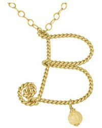Rafia - Initial B Necklace - Lyst