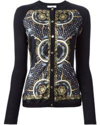 Versace Black Printed Cardigan - Lyst