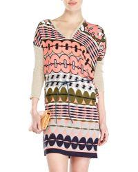 Alysi Asymmetrical Printed Dress - Lyst