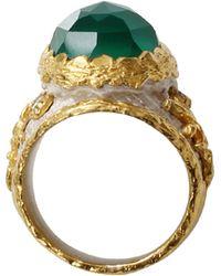 Victor Velyan - Green Onyx Ring - Lyst