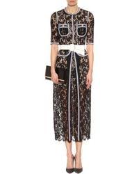 Alessandra Rich Lace Dress black - Lyst