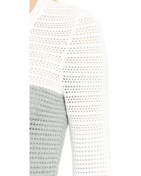 Yigal Azrouël - Colorblock Knit Top - Heather Grey Multi - Lyst