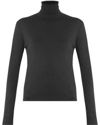 Balenciaga Rollneck Silk Sweater - Lyst