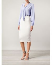 Marc Jacobs Tie Neck Blouse - Lyst