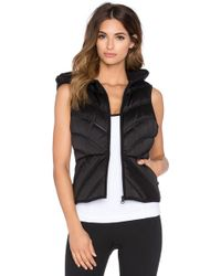 Blanc and Noir - Mesh Inset Puffer Vest - Lyst