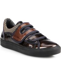 Raf Simons Multi-Strap Leather Slip-On Sneakers - Lyst