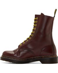 Dr. Martens Burgundy Leather 10_eye Austins Boots - Lyst