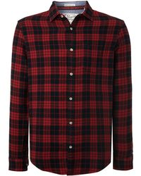Original Penguin | Dark Check Long Sleeve Shirt | Lyst