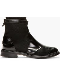 Paul Smith Black Leather and Neoprene Morrison Boots - Lyst