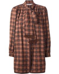Yves Saint Laurent Vintage S Checked Unlined Jacket - Lyst