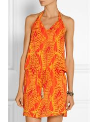 Vix Menfis Printed Voile Coverup - Lyst